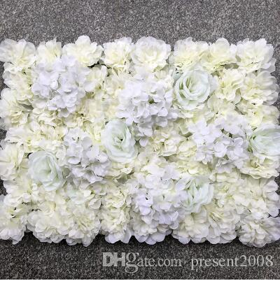 Artificial Milk White silk rose and peony flower wall wedding background decoration road lead Home Decor
