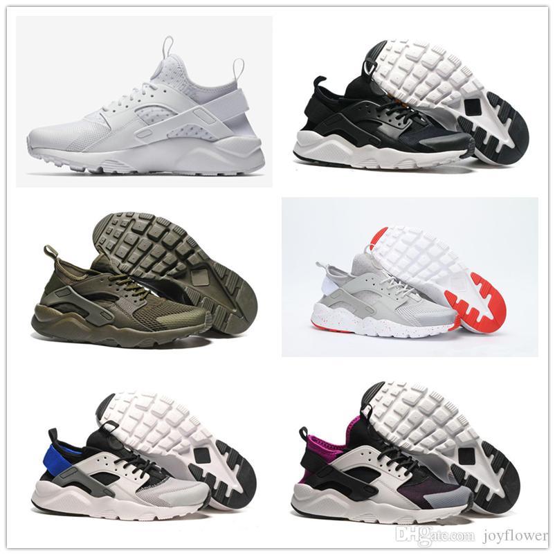 fab48070906f 2018 NEW Air Huarache 4 Men Women Running Shoes All White Huraches ...