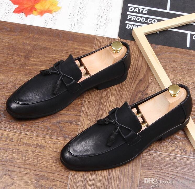 d2d364c712e7 Spring Hot Sales Mens Shoes Microfiber Men Dress Shoes Tassels Stylist Mens  Designer Shoes Homecoming Men Luxury Loafers 762 Cheap Shoes Dansko Shoes  From ...