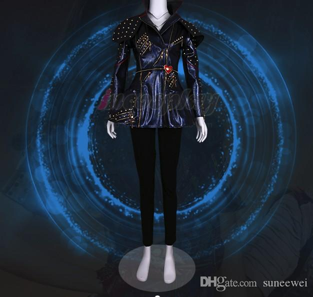 Evie Descendants 2 Deluxe Maleficent Faux Leather Costume Outfit