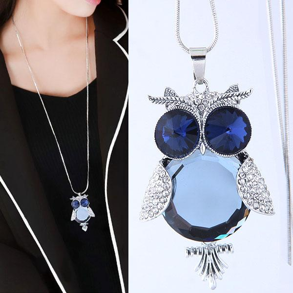 2018 fashion long necklace blue stone owl necklaces pendants 2018 fashion long necklace blue stone owl necklaces pendants bijoux femme crystal costume jewelry necklaces for women from benaccessories 317 dhgate aloadofball Choice Image