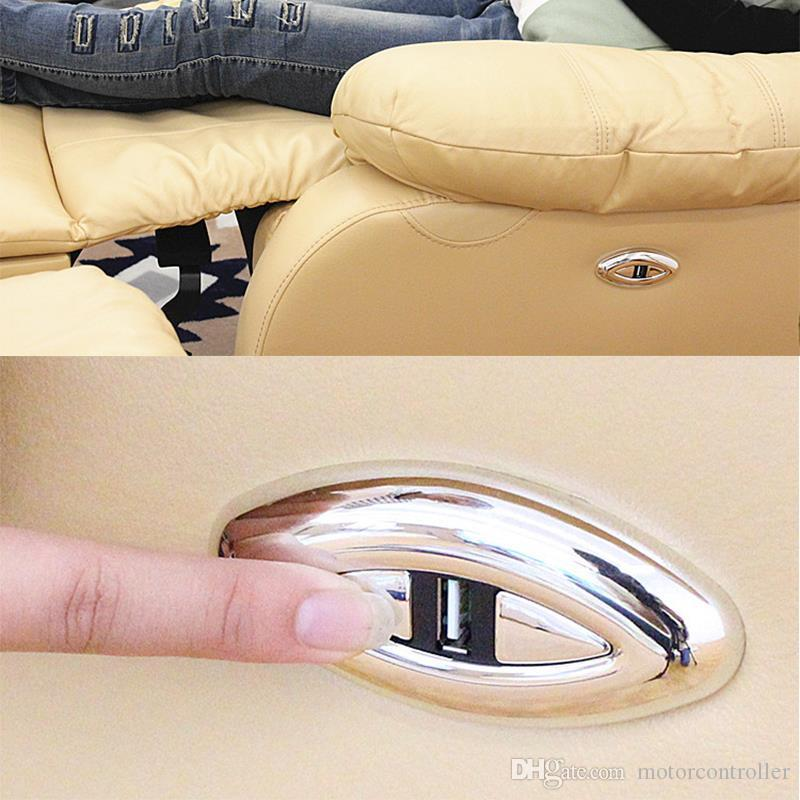 원형 양면 버튼 Oking Linear Actuator는 USB 충전으로 편안한 소파 휴대폰 제어 스위치를 조정할 수 있습니다.