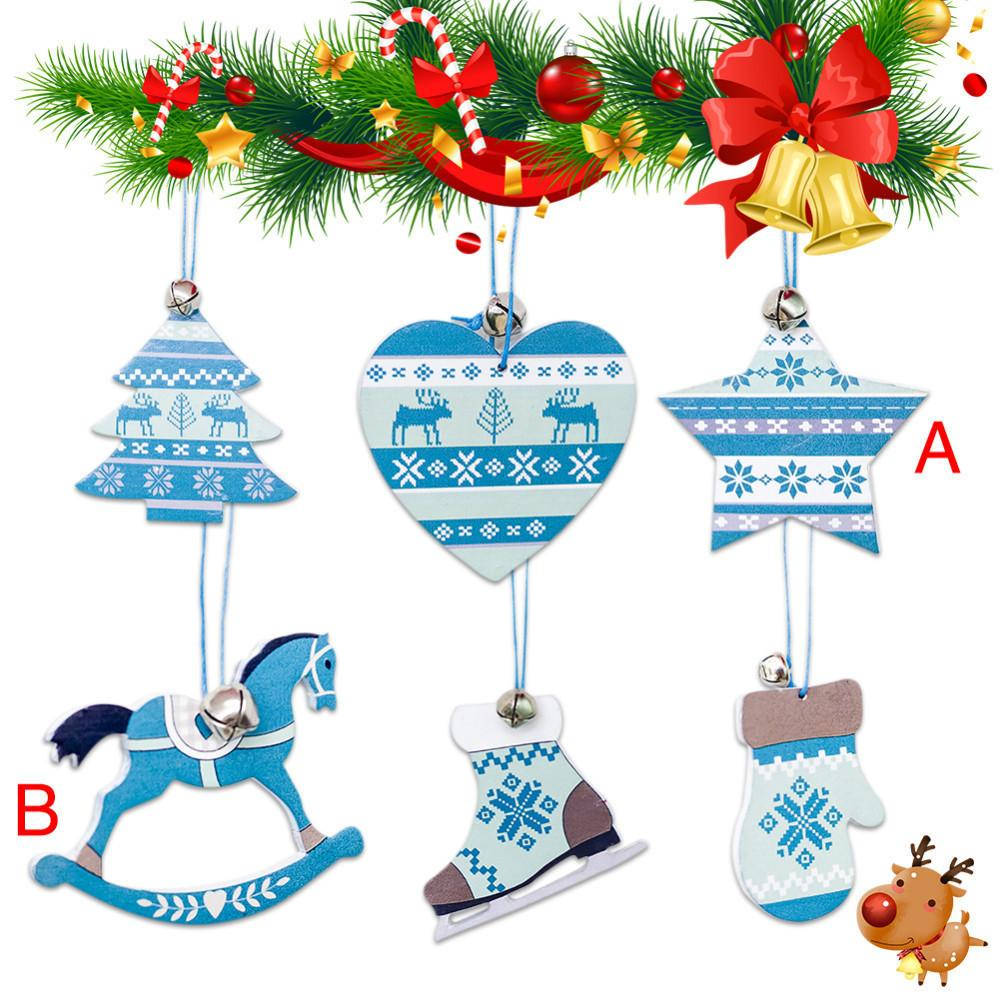 Nordic Style Christmas Innovative Wooden Home Living Bell Decor ...
