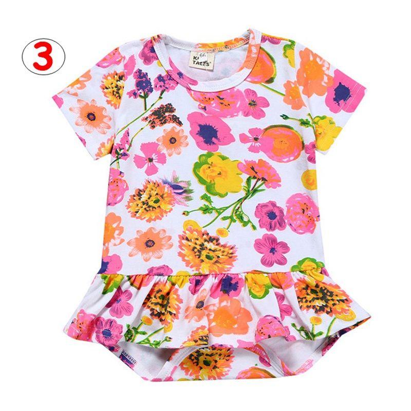Recién nacido estampado de flores mameluco bebés niños niñas verano algodón mono bebé monos trajes solares es para 3M-3T
