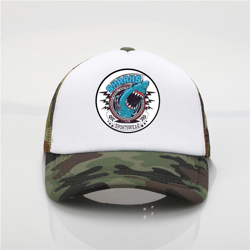Latest Model Shark Print Men Baseball Caps Original Whale Design Hat Men  High Quality Casual Summer Baseball Mesh Hat Flexfit Cap Ny Caps From  Menceng1986 277ff2c8aed