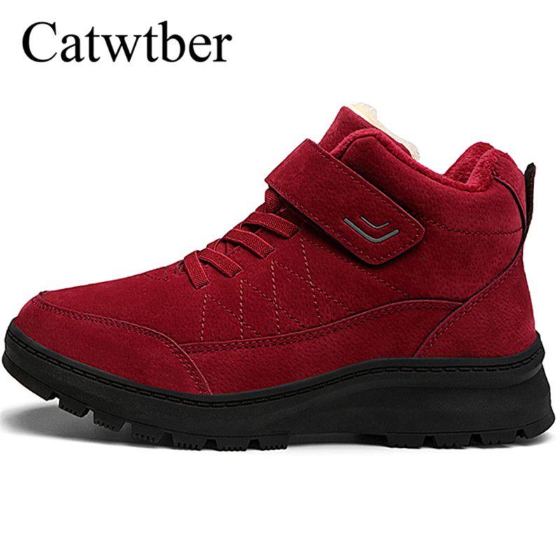 Catwtber High Respirant L'intérieur Fourrure À Peluche Combat Botte Pour Automne Top Femmes Chaussures Bottes En Chaude D'hiver D9WHI2E