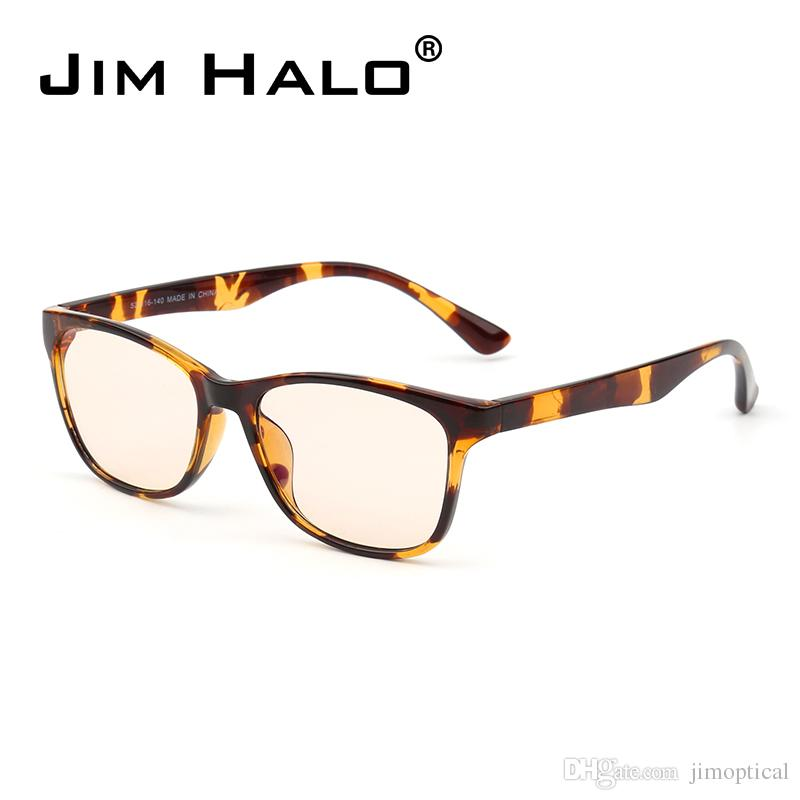 ef6c96587fb Jim Halo Computer Reading Glasses Anti Block Blue Light Square Frame Gaming  Eyeglasses Reduce Digital Eye Strain Anti Blue Light Sunglasses Computer  Gaming ...