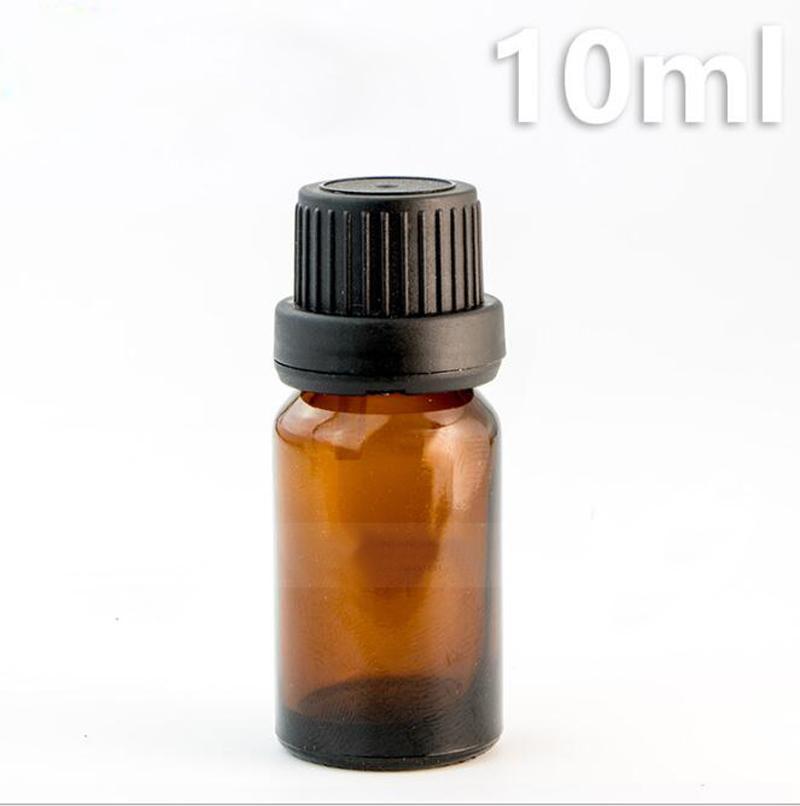 Atacado 768 pçs / lote 10 ml de vidro garrafas de óleo essencial com preto euro dropper cap garrafas de vidro âmbar 10 ml Venda Quente REINO UNIDO EUA