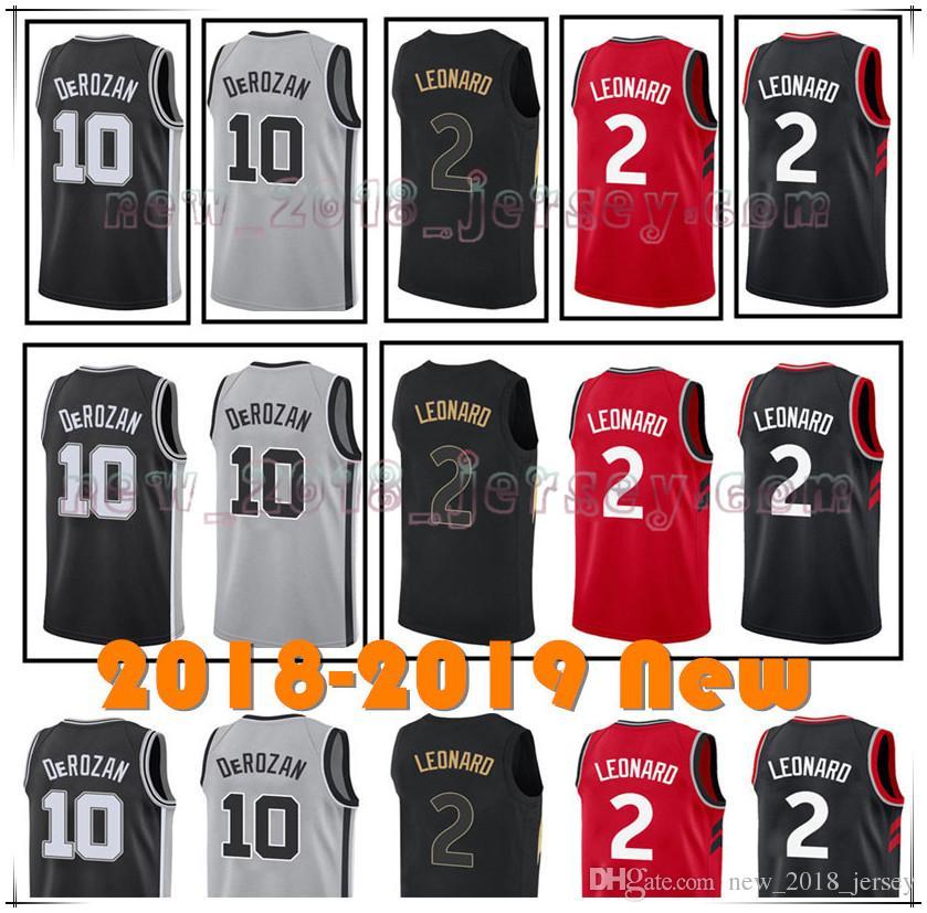 b92c787f1 2018 Men S Toronto Jersey 2 Kawhi Leonard 10 Demar Derozan 21 Tim Duncan 7  Kyle Lowry 18 19 New San Antonio Basketball Jerseys From New 2018 jersey