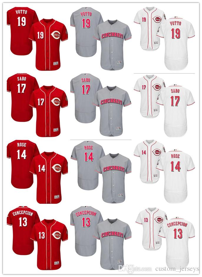 Custom Men s Women Youth Majestic Reds Jersey  13 Dave Concepcion 14 ... fed542d0f