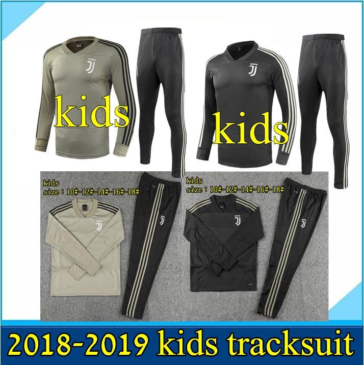 255445a67c2 Kids Tracksuit 2018 2019 Juventus Soccer Jersey Tracksuits 18 19 ...