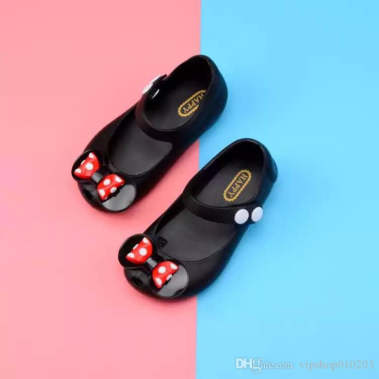 Mini Melissa 2018 Mickey bow Jelly Shoes Boys Girls Sandals Soft Comfort Toddler Baby Girl Sandals Beach Sandals for Kids