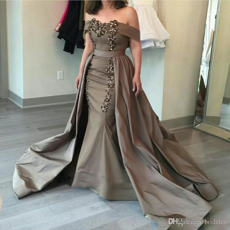 911ac6c7876d Gorgeous Detachable Train Mermaid Prom Dresses 2018 Sweetheart Lace  Appliques Saudi Arabian Formal Prom Dress Long Evening Party Gown Cheap  Mermaid Prom ...