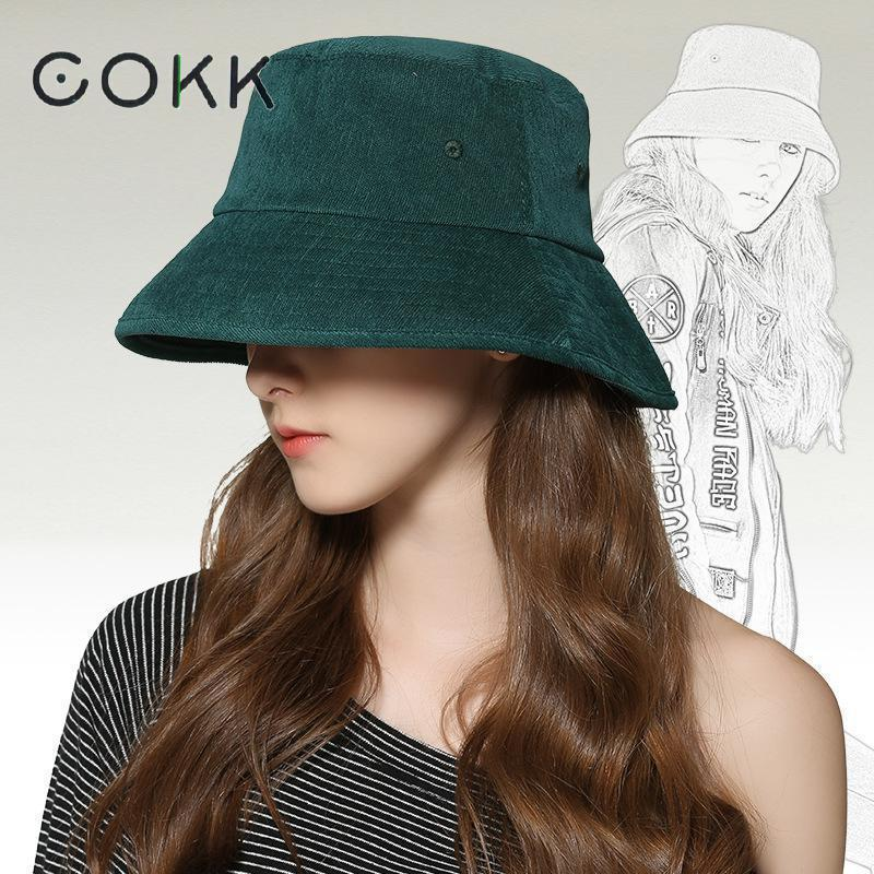 02c1c83498a 2019 COKK 2018 New Fashion Bucket Hat Women Autumn Winter Hats For Women  Men Unisex Fishing Hat Female Outdoor Sunscreen Bucket Cap D18110601 From  Shen8409