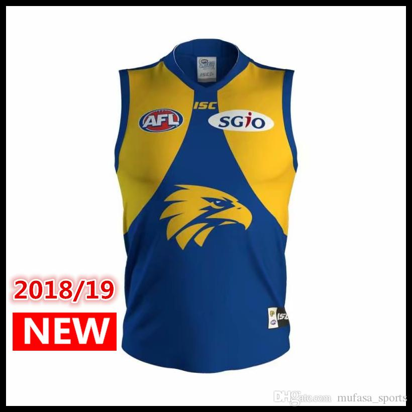 bfb660791 2019 West Coast Eagles 2018 AFL Jersey Singlet Vest ISC PREMIERSHIP GUERNSEY  Rugby Jerseys League Jersey Leisure Sports Shirt From Mufasa sports