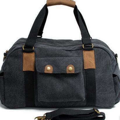 341e8e6a84 2019 2018 Gym Bags Canvas Travel Bag Large Capacity Vintage Shoulder Bag  Unisex Men Women Waterproof Crossbody Bags From Raisins