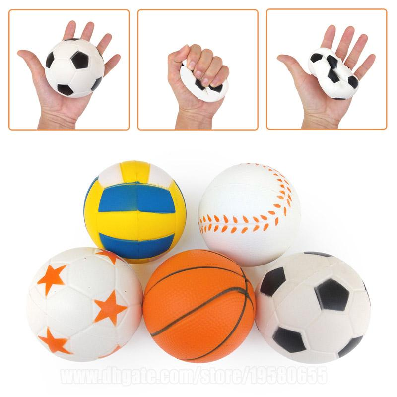 Sport Ball Squishies Soccer Squishy Basketball Football Slow Rising Phone Strap Volleyball Baseball DHL Free Shipping SQU014