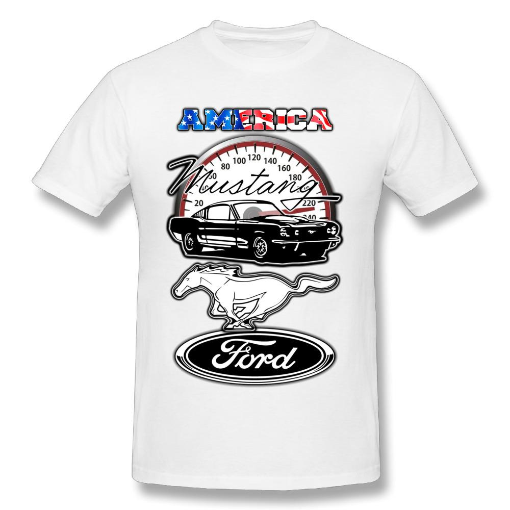 Quality Men S Ford Mustang T Shirts Round Neck Design T Shirt 100