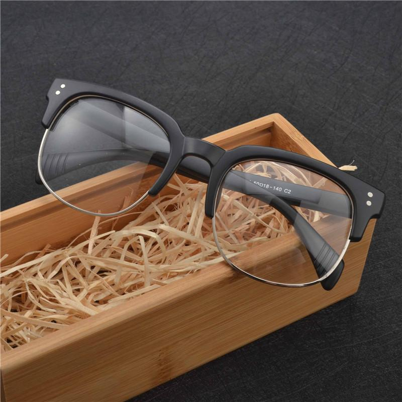 cbe28a39fd 2019 MINCL Brand Top Grade Eyeglasses Frame Men Optical Frames Women Retro  Clear Lens Half Rim Glasses Frame Female Spectacle FML From Heathere