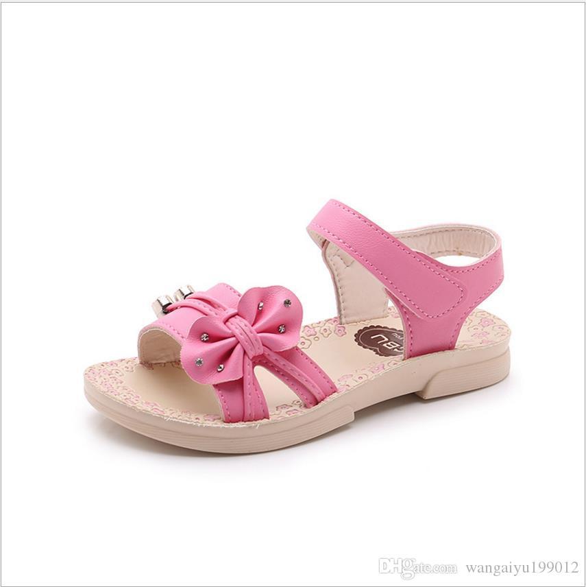 79d04ee37cf24 Acheter 2018 Nouvelles Filles D été Chaussures Sandales De Plage Pour  Enfants Filles Coréennes Bébé Garçon Sandales Romaines De  23.36 Du  Wangaiyu199012 ...