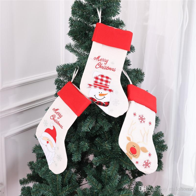 new christmas gift sock non woven fabrics santa claus snowman elk chinese bird gift sock perfect christmas decoration christmas gift sock christmas