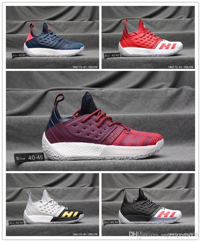 b0892dd137b3 2018 Harden Vol. 2 Mens Basketball Shoes Black White Orange Wholesale  Fashion James Harden Shoes
