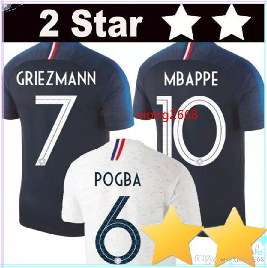 2 Stars Thailand GRIEZMANN MBAPPE POGBA Soccer Jerseys 2018 World ... 509de58b0