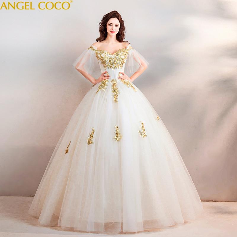compre vestidos de novia de maternidad de lujo bordado de hilo de