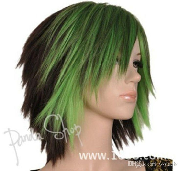 Harajuku Wig New Sexy Women S Short Green Gradient Cosplay Party Hair Wigs  Wig Making Supplies Make A Wig From Wofa58 69ce9d2156