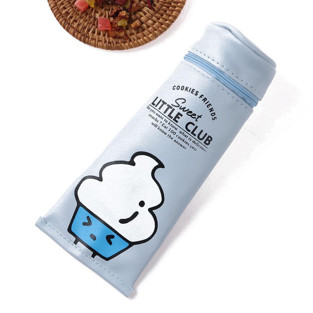 1 STÜCK Cartoon Schokolade Cookies Wurst Zahnpasta Geformte Pu-leder Aufbewahrungstasche Schulbedarf Einkaufstasche