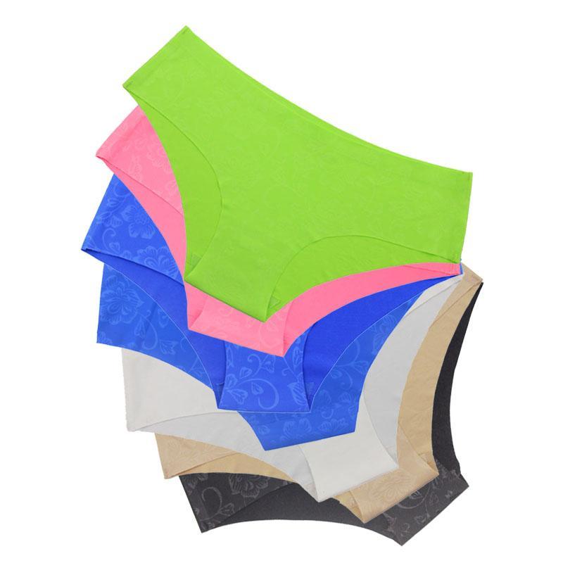 Hot vente sans couture slips sous-vêtements de tous les jours femmes culotte Traceless Hipster coupe brute Slip rose intime 2018