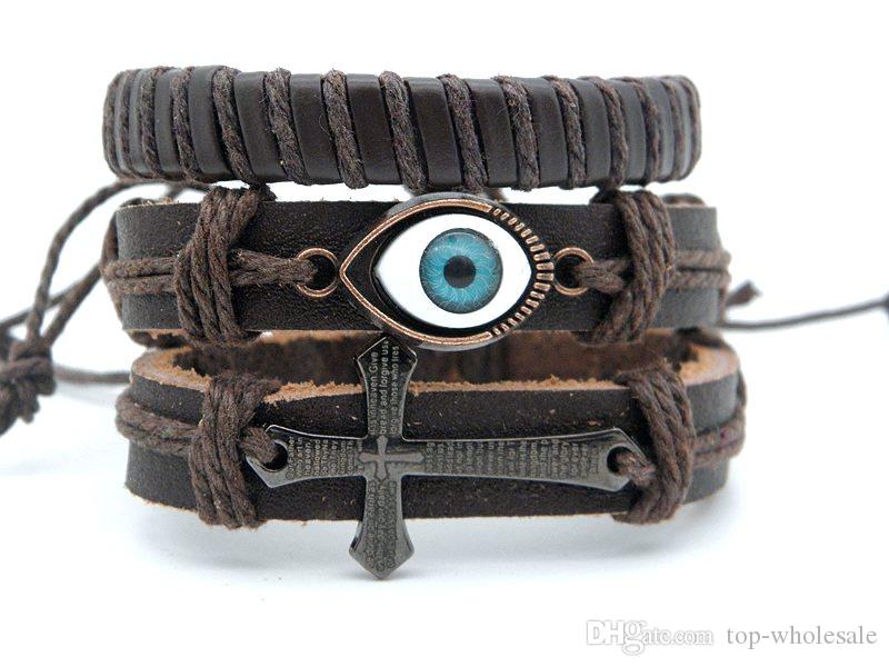 Großhandel Großhandelskombination Echtes Leder Armband Armbänder ...