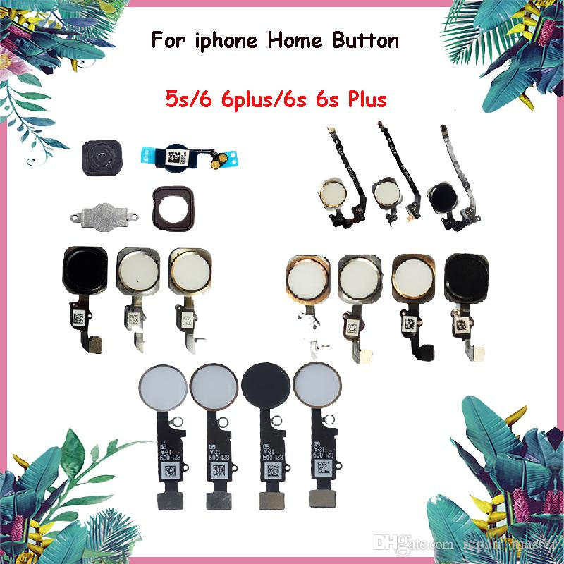 100% TESTED NEW Home Button Flex Cable for iphone 5 5s iphone 6 6 plus 6s 6s Plus Replacement Parts