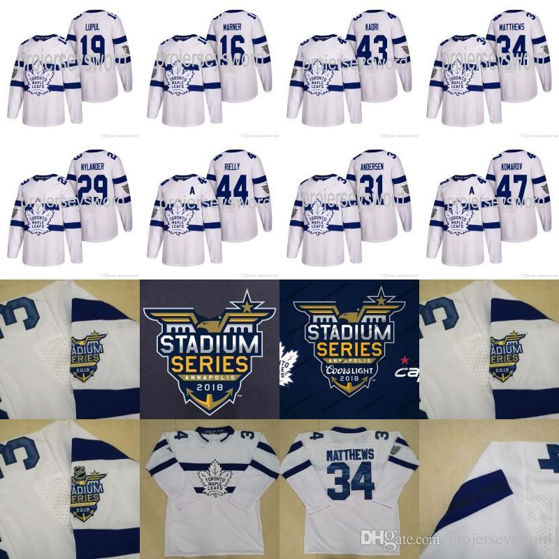 Toronto Maple Leafs 2018 Stadium Series Jerseys Mitch Marner Joffrey Lupul  Auston Matthews Frederik Andersen Nazem Kadri Rielly Komarov Toronto Maple  Leafs ... c75fdd160