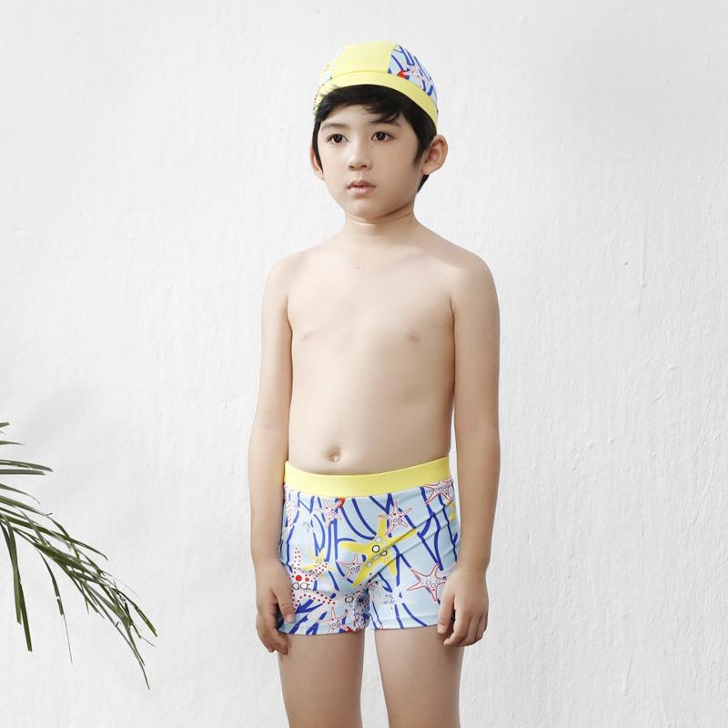 c0bc53e43 2019 New Boys Swimming Trunks Children Swimsuit And Swimming Cap ...