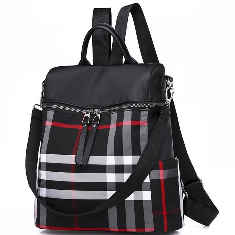 59a95de991 Wholesale-Women s Traveling Backpack Business Backpack Brand Backpack  Women s Striped Shoulder Messenger Bag Ladies Wild Simple Backpacks Women s  Traveling ...