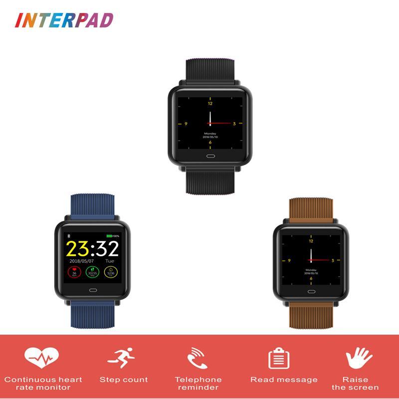 973ae29a1e98be Interpad Smart Bracelet Waterproof Heart Rate Monitor Smart Band Fitness  Trakcer Wristband Sleep Monitor For Xiaomi Huawei Smart Wristbands Cheap  Smart ...