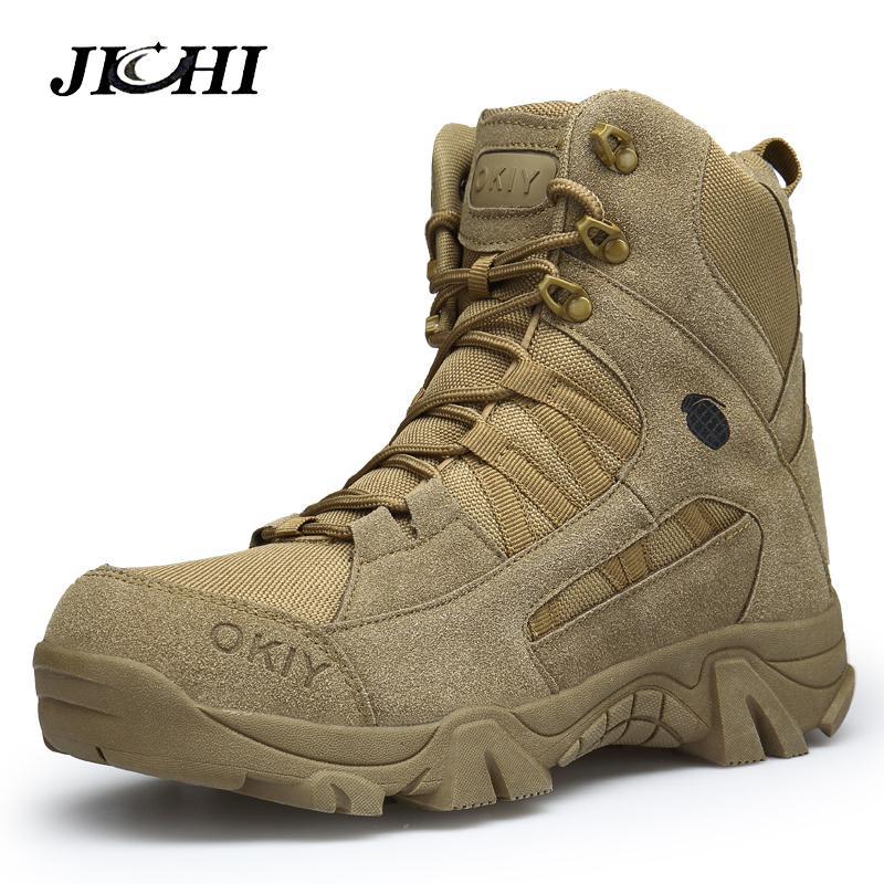 Acheter 2019 2018 Hiver Bottes Militaires Pour Hommes Confortable Cheville  Bottes Hommes Chaussures De Travail Armée Désert Bottes De Combat Hommes  Neige ... 1bce5330c579