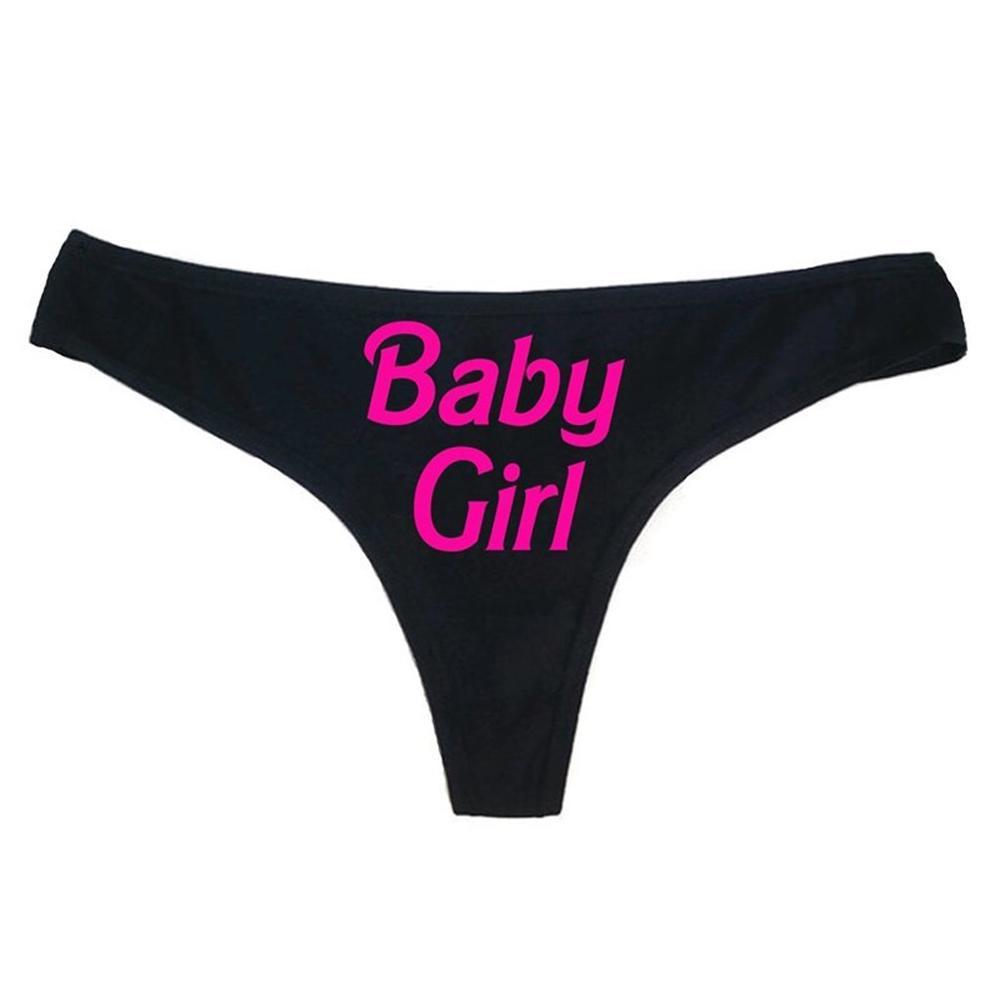 Sexy Calcinha das Mulheres Carta Impresso Briefs Calções Babydoll Sexy Underwear Sleepwear Swimwear Tangas Calcinhas