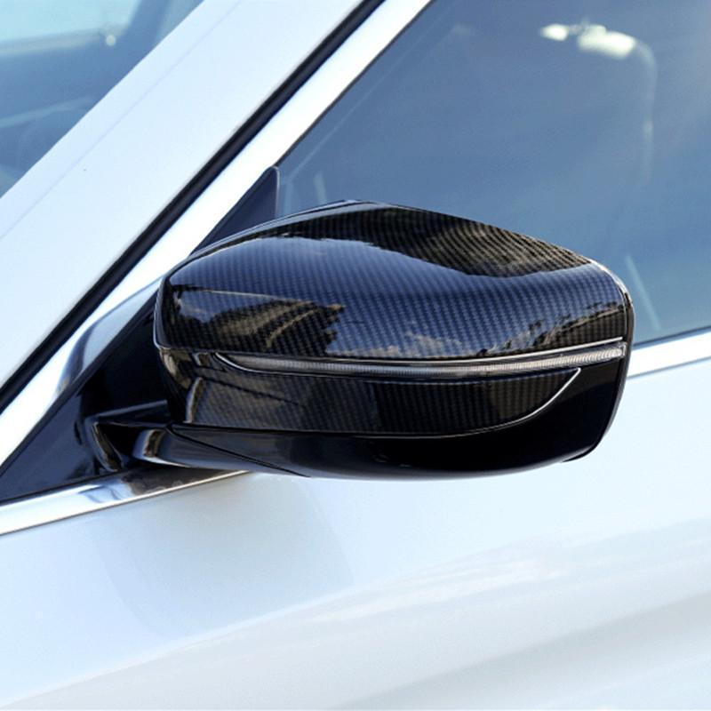 Carbon Fiber Style Car Exterior Rearview Mirror Frame Decoration