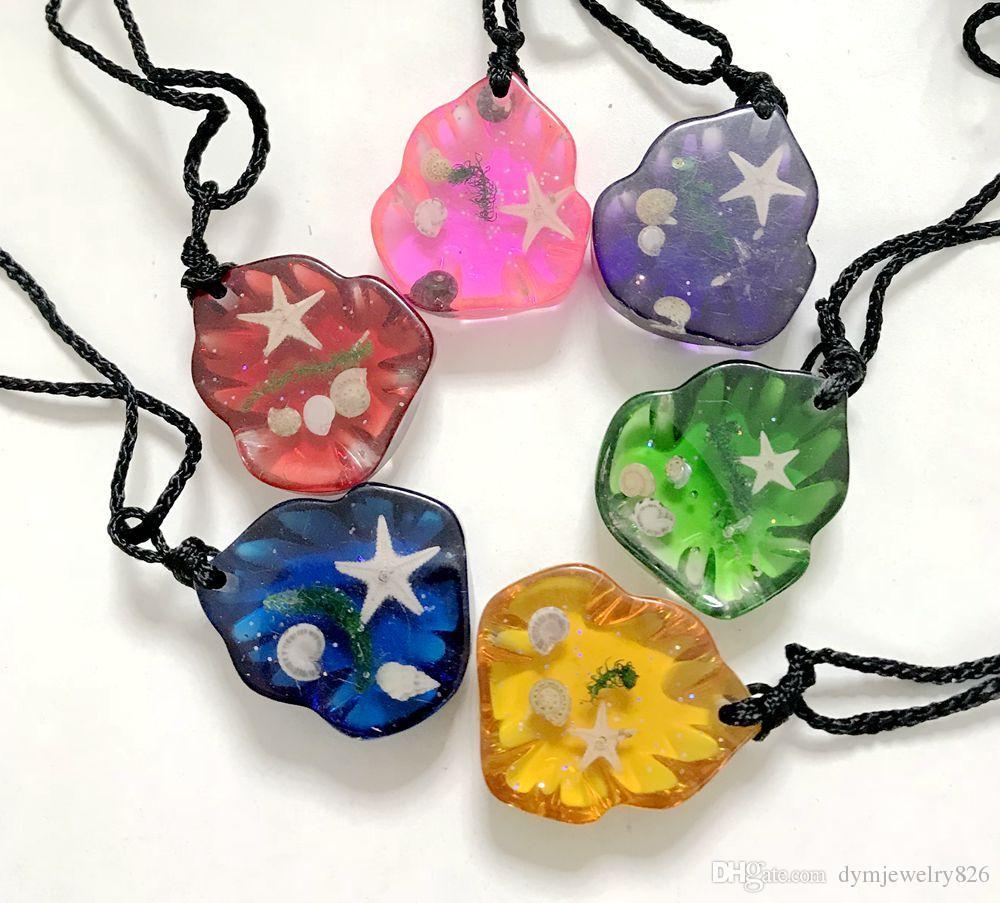 ENVÍO GRATIS 6 piezas colgante colorido elegante de la joyería de las estrellas de mar de la manera