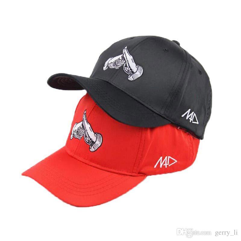 Compre Gorras De Béisbol Para Adultos Unsiex Moda Gorra De Béisbol Manos  Bordado Hombres Ajustable Ballcap Mujeres Negro Gorra Para Viajes Al Aire  Libre A ... 5d081e75a81