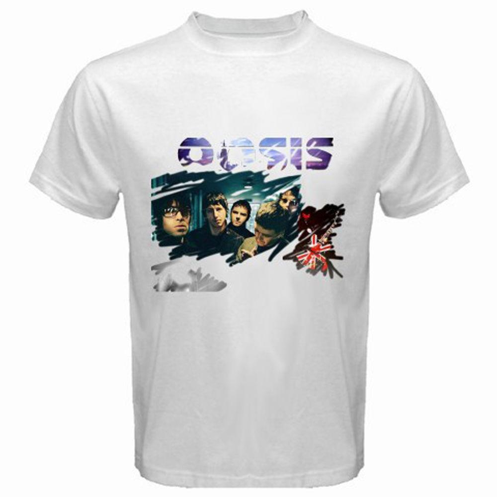 e4ef15b868560 New OASIS British Rock Band Noel Liam Gallagher Mens White T Shirt Size S To  3XL Art T Shirts The Who T Shirt From Xm24tshirt