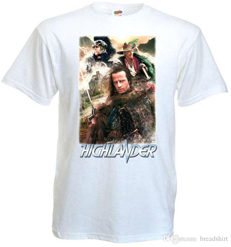 edddd69c229e0 Highlander V11 T Shirt White Poster All Sizes S...5XL Quirky T Shirt  Awesome T Shirts For Sale From Teemachine