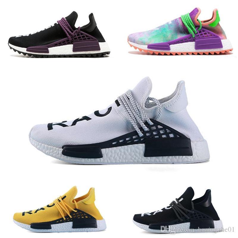 1f22cbbb6 Human Race Running Shoes Pharrell Williams Hu Trail Cream Core Black Nerd  Equality Holi Nobel Ink Trainers Mens Women Sports Sneaker Athletic Shoes  Shoes ...