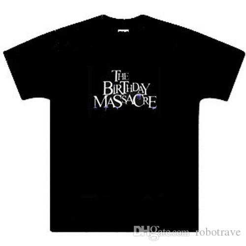 Birthday Massacre Dripping Logo Music TshirtBlack100 CottonNew S M L XL Ringer T Shirts Political From Robotrave 999