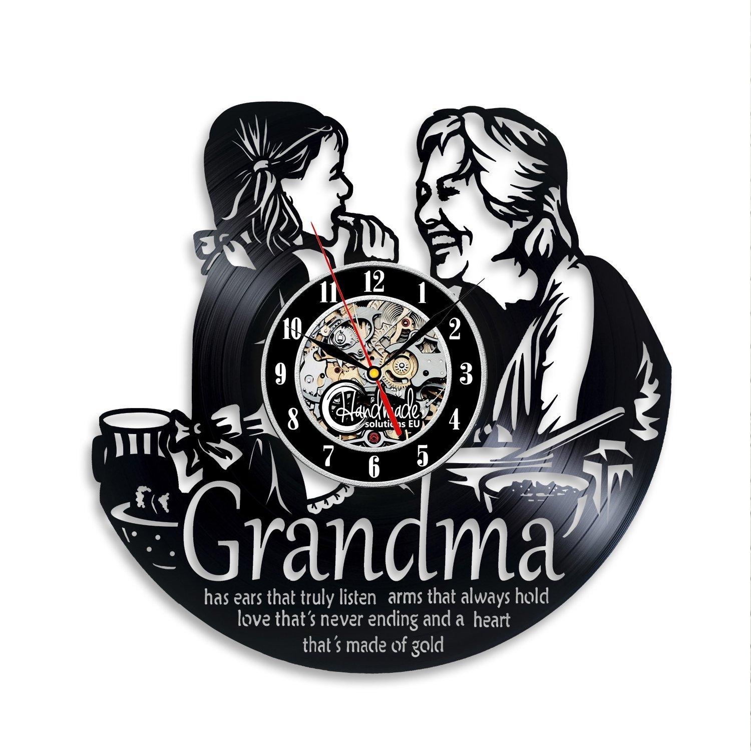 Grandma Precious Moments Wall Clock Grandmommy Picture Personalized