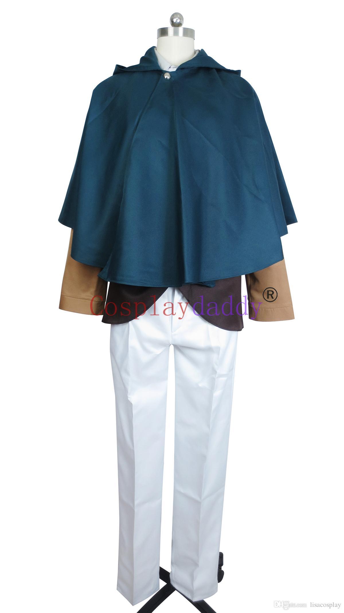 Attack on Titan Survey Corps Dororo Levi Cosplay Costume + Cloak E001