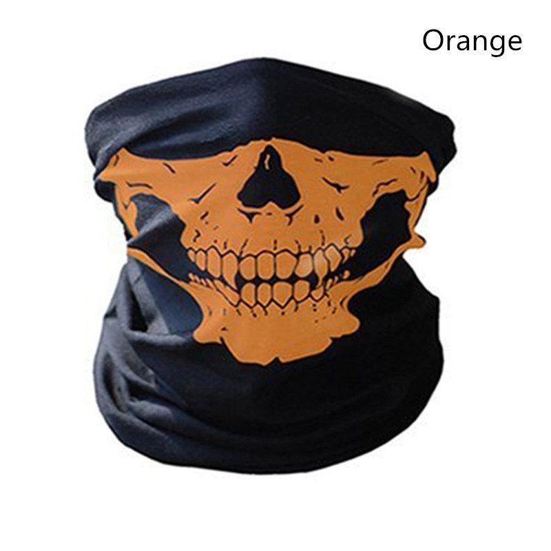 Fahrrad-Ski-Schädel-halbe Gesichtsmaske-Geist-Schal-Mehrfachgebrauchs-Hals-Wärmer COD Halloween-Geschenk, das cosplay Zusätze im Freien radfährt