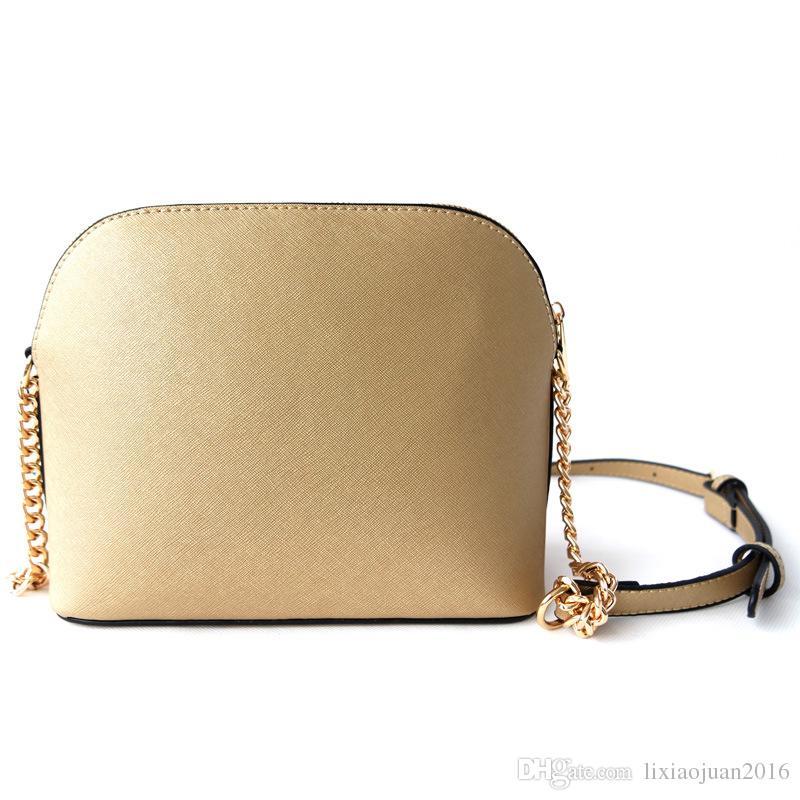 O envio gratuito de nova carteiras de senhora europeus e americanos shell moda saco PU15 cor corrente de ouro / um grande número de descontos